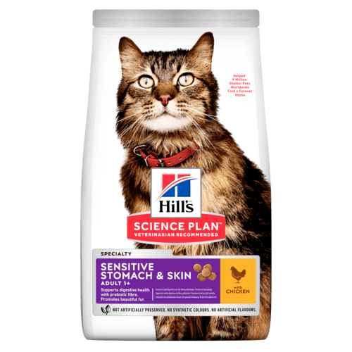 Hills Science Plan Feline Adult Sensitive Stomach Skin Chicken
